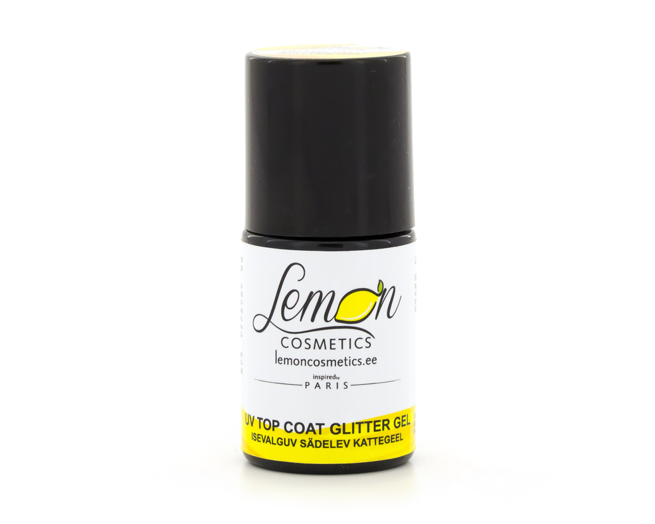 lemon cosmetics uv top coat silver glitter gel. Black Bedroom Furniture Sets. Home Design Ideas